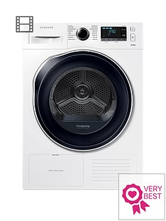 Samsung DV80K6010CW/EU 8kg Load Tumble Dryer with Heat Pump Technology - White Best Price, Cheapest Prices