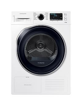 Samsung Dv80K6010Cw/Eu 8Kg Load Tumble Dryer With Heat Pump Technology - White