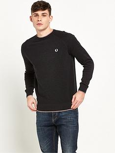fred-perry-micro-bomber-tipped-crew-neck-jumper