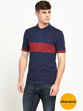 fred-perry-chest-panel-zip-polo
