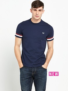 fred-perry-striped-cuff-t-shirt
