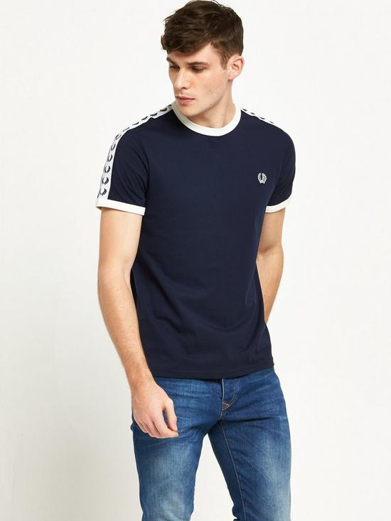 204fd4f1e Fred Perry Sports Authentic Taped Ringer T-Shirt
