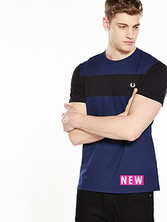 fred-perry-textured-panel-t-shirt