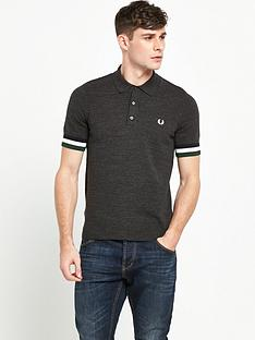 fred-perry-striped-cuff-knitted-polo