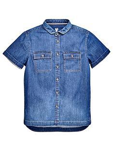 v-by-very-boys-short-sleeve-chambray-shirt