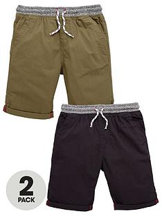 v-by-very-boys-woven-shorts-khakiblack-2-pack
