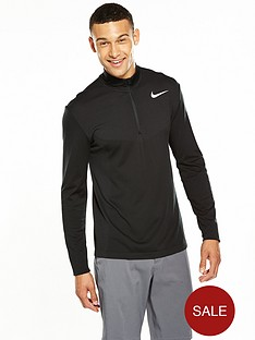 nike-golf-dri-fit-long-sleevenbsp12-zip-top-black