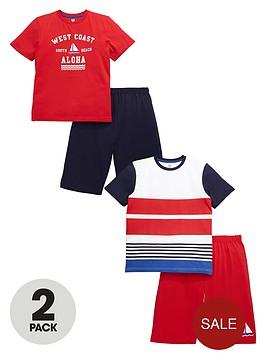 v-by-very-boys-nautical-short-pyjama-set-2-pack