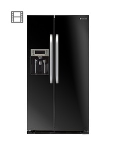 hotpoint-sxbd925fwd-frost-free-american-style-fridge-freezer-black