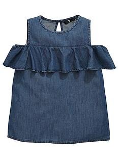 v-by-very-girls-denim-off-the-shoulder-ruffle-top