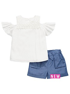 v-by-very-girls-crochet-cold-shoulder-top-and-shorts-set