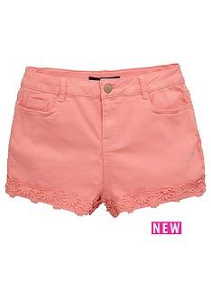 v-by-very-crochet-trim-denim-shorts