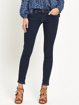 Pepe Cher Low Rise Cropped Ankle Zip Jean