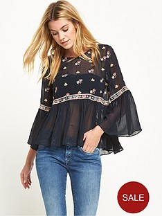 pepe-jeans-pepe-arpana-embroidered-top