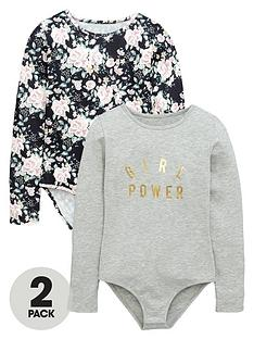 v-by-very-girls-floral-and-slogan-bodysuits-2-pack