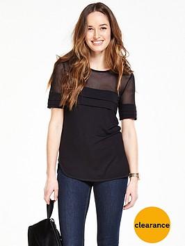 v-by-very-mesh-yoke-pleat-t-shirt