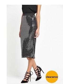 river-island-jersey-metallic-midi-skirt-silver