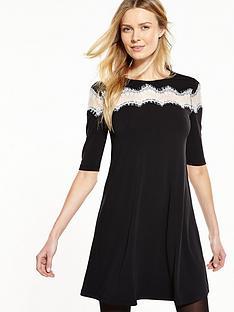 v-by-very-lace-insert-swing-dress