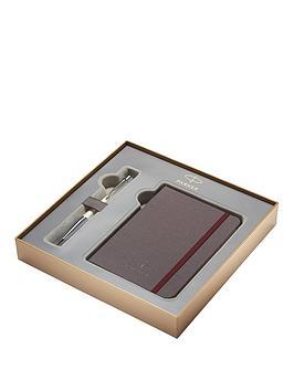 parker-urban-premium-pearl-chrome-trim-ballpoint-pen-amp-notebook