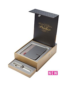 parker-parker-sonnet-18ct-fountain-pen-amp-premium-notebook-in-premium-gift-box