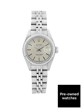 rolex-steel-datejust-silver-baton-26mm-dial-ladies-watch-pre-owned