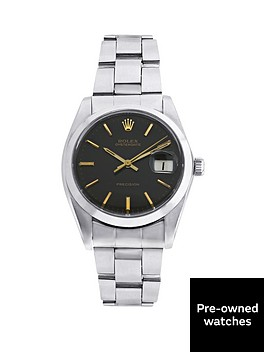 rolex-steel-oysterdate-black-34mm-dial-original-vintage-stainless-steel-bracelet-mens-watch-pre-owned
