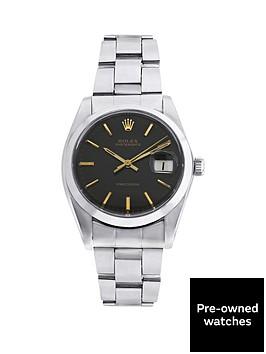 rolex-steel-oysterdate-black-34mm-dial-original-vintage-stainless-steel-bracelet-mens-watch-pre-owned