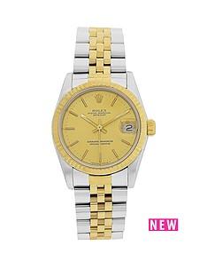 rolex-bimetal-datejust-original-champagne-diamond-31mm-dial-midsize-watch-pre-owned-1987-1994