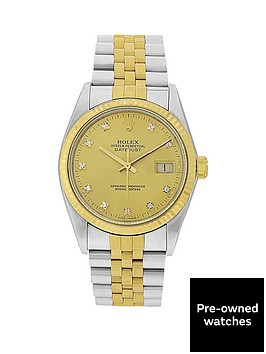 rolex-gents-bimetal-datejust-orginal-factory-set-diamond-36mm-dial-mens-watch-pre-owned