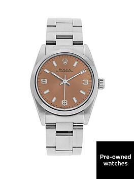 rolex-steel-oyster-perpetual-salmon-31mm-dial-midsize-watch-pre-owned-1987-1998