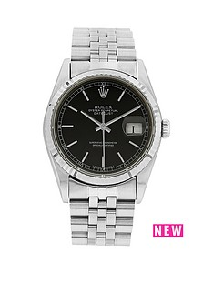 rolex-stainless-steel-datejust-black-36mm-dial-mens-watch-pre-owned