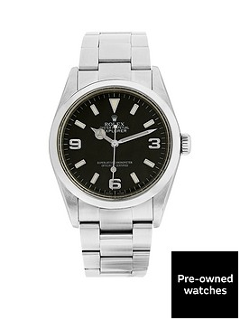 rolex-explorer-i-black-3-6-amp-9nbsp36mm-dial-mens-watchnbsppre-owned-including-paperwork