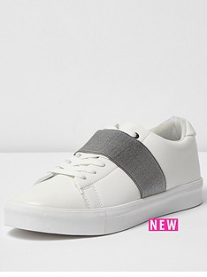 river-island-river-island-mens-elastic-front-lace-up-trainer