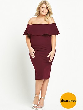 ri-plus-bardot-bodycon-dress-burgundy