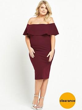 ri-plus-bardot-bodycon-dress-burgundy