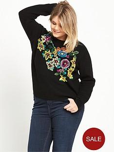 ri-plus-embroiderednbspknitted-jumper-black