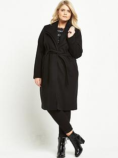 ri-plus-double-collar-belted-coat-black