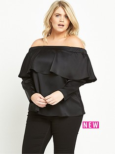 ri-plus-frill-bardot-top-black