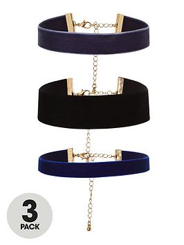 v-by-very-pack-3-velvet-choker-set