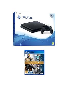 playstation-4-ps4-500gb-black-slim-console-with-destiny-the-collection-and-365-psn-subscription