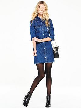 v-by-very-embroidered-denim-shirt-dress