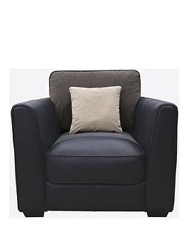 astor-luxury-leather-and-fabric-armchair
