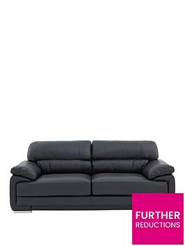 rosennbspleatherfaux-leather-3-seater-sofa