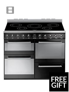 smeg-syd4110iblnbsp110cmnbspsymphony-dual-fuel-range-cooker-with-induction-hob--nbspblack