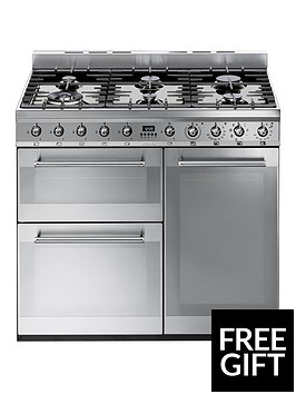 smeg-sy93-90cm-dual-fuel-3-cavity-range-cooker-with-gas-hob-stainless-steel