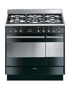 smeg-suk92mbl9-90cm-double-oven-dual-fuel-concert-range-cooker