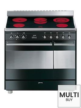 smeg-suk92cbl9-90cmnbspceramic-double-oven-duel-fuel-conert-range-cooker