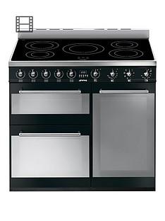 smeg-sy93ibl-90cm-3-cavity-range-cooker-with-induction-hob-black