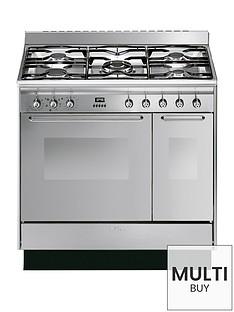 smeg-cc92mx9-90cm-dual-fuel-double-oven-range-cooker-with-gas-hob
