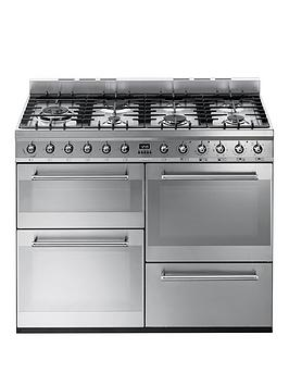 smeg-syd4110-110cm-symphony-dual-fuel-range-cooker-stainless-steel